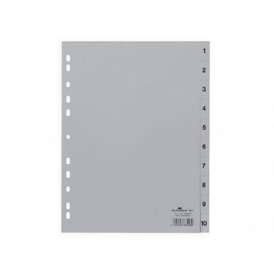 Index plastic a4 1-10 durable - IDX043