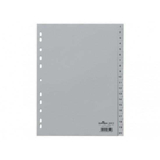 Index plastic a4 1-20 durable - IDX044