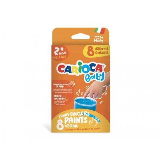 Acuarele baby finger paint 8 x 50 ml, carioca - SKP052