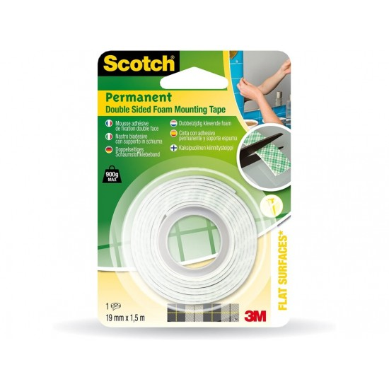 Banda dublu adeziva pentru montare 19 mm x 1,5 m scotch - BAD056