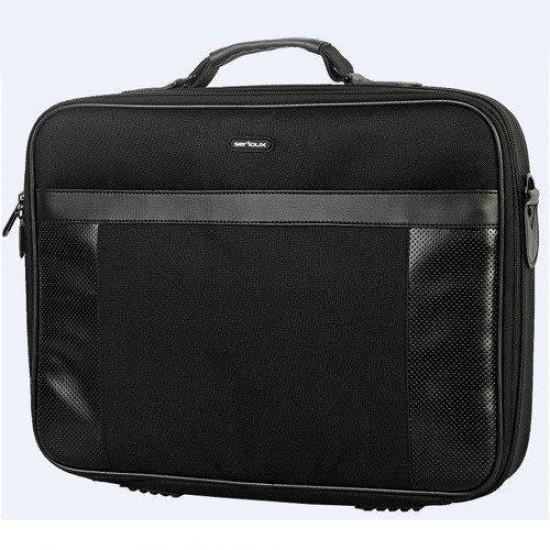 Geanta notebook serioux, snc-el156, 15.6 polyester, slim, black - SNC-EL156