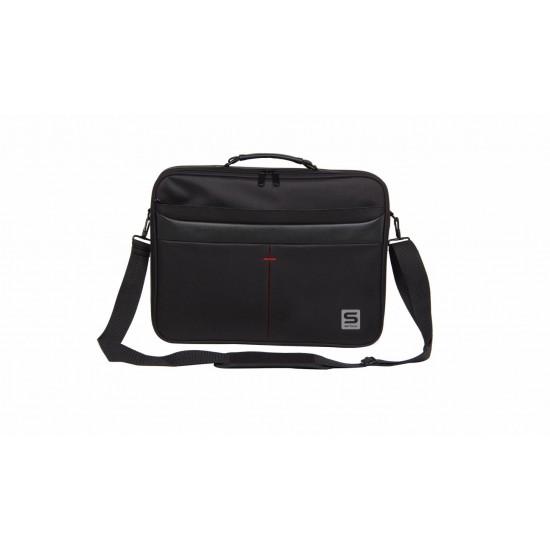 Geanta notebook serioux, srx-8444, dimensiuni 40 x 30 x 6 cm, compartiment laptop: max 15.6, bretea spate pentru prindere troller, curea de umar ajustabila, material poliester - SRX-8444