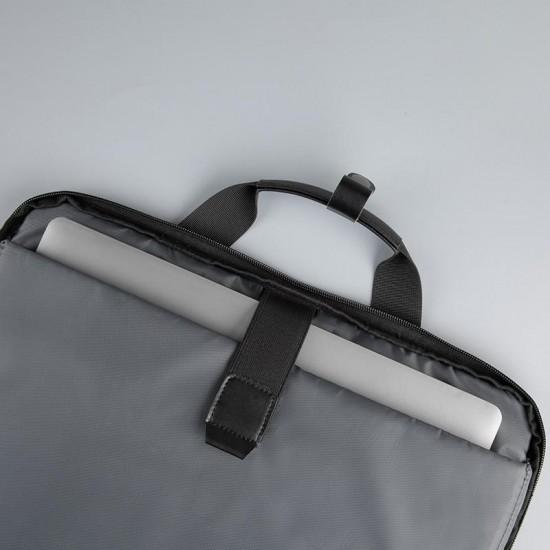 Geanta notebook serioux, smart travel st9610, dimensiuni 43 x 11 x 30 cm, rezistent la apa, compartimente multiple, compartimet laptop pana la 15.6, bretea spate pentru prindere troller, curea de umar ajustabila, material polieste - SRXNB-ST9610