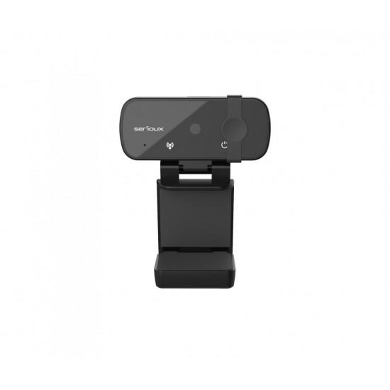 Camera web serioux full hd 1080p, chipset sunplus2381+f23, microfon incorporat, rata cadre 30fps, rezolutie maxima video 1920*1080, format video mjpg / yuy2, senzor cmos hd 2.0 mega pixeli pentru imagine, tipul focalizarii autofoc - SRXW-HDA1080P