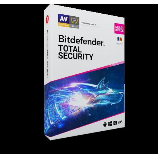 Licenta retail bitdefender total security - protectie anti-malwarecompleta pentru windows, macos, ios si android, valabilapentru 1 an, 3 dispozitive, new - TS03ZZCSN1203BEN