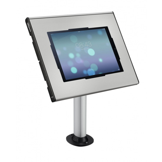 Stand de masa pt. tablete + suport  vogel's pentru tablete cu dimensiunile de minim 236x166x3mm si maxim 285x186x10mm - VOGEL'S PTA3102+PTS2010